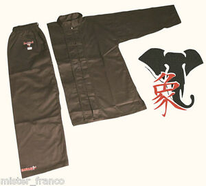 Black-Uniforme-Divisa-KUNG-FU-CLASSICA-e-ISHANG-TAI-CHI-WUSHU-WING-CHUN-SANDA