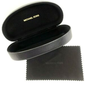 New-Michael-Kors-Sunglasses-Hard-Clamshell-Brown-Case-w-Cleaning-Lens-Cloth