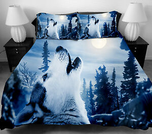 3d Wolf Bedding Set Twin Full Size Duvet Cover Bed Sheet
