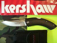 Kershaw - Northside Hunter - Folding Lockback Hunting Knife W/ Sheath Black 1090