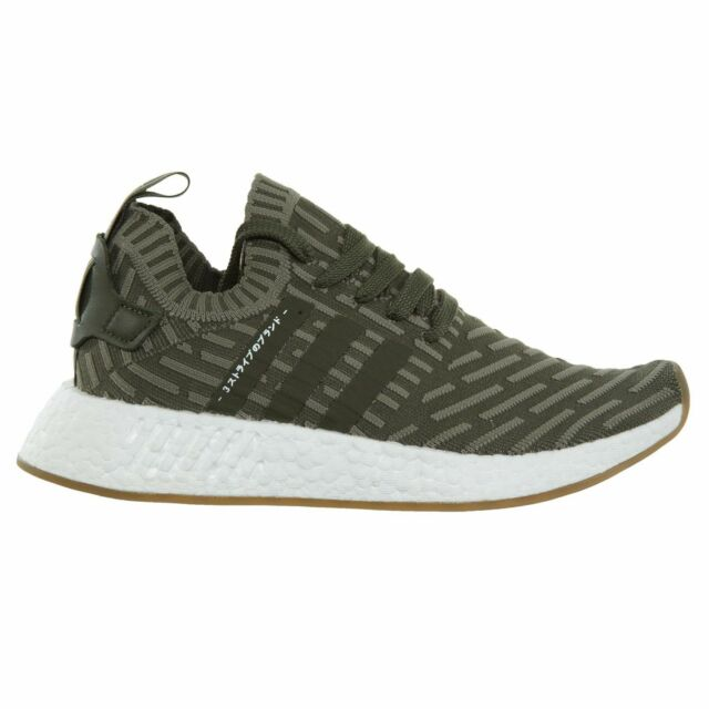 92f6be429ef40 Adidas NMD R2 PK Womens BY9953 St Major Green Primeknit Running Shoes Size  11