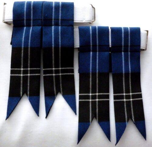 Chaussette Kilt tuyau clignote moderne Ramsay tartan bleu pointu faite en ecosse nouveau