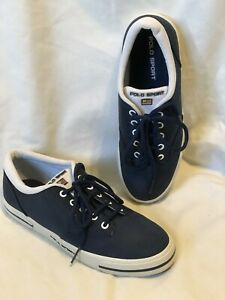 POLO-SPORT-Nylon-Tennis-Athletic-Boat-Shoes-Sneakers-Navy-Blue-Mens-US-Size-6-5