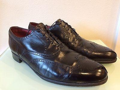 Men's Florsheim Royal Imperial Black Leather Wingtip Oxfords size 12