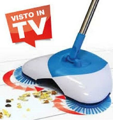 SCOPA ROTANTE 360° SETOLE ROTANTI MICROFIBRA ASPIRAPOLVERE SWEEP DRAG IN TV K