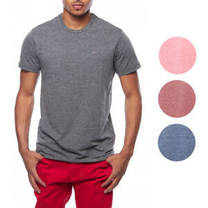 Tommy Hilfiger NEW Heather Logo Basic Crewneck Tee T Shirt 49