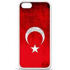 Coque housse étui tpu gel motif drapeau Turquie Iphone 5 / 5S