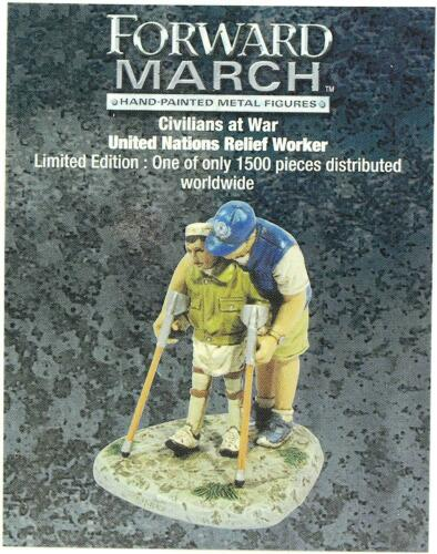 Corgi hacia adelante March 1:32 Die Cast Figura de civiles en guerra Unidos Nations Relief