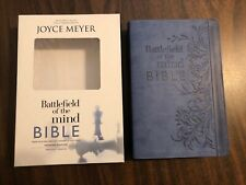 Battlefield of the Mind Bible : Renew Your Mind Through the Power of God's  Word by Joyce Meyer (2017, Leather)