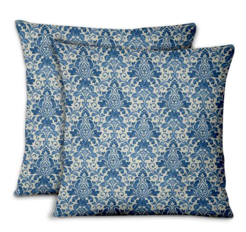 S4Sassy Leaves /& Damask Sofa Cushion Cover Sofa Waist Throw 2Pcs-FL-47E