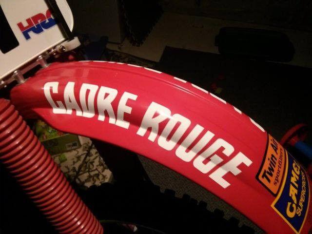 Vintage Motocross CADRE ROUGE fender decal stickers CR RC 125 250 500 Works bike