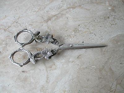 GroßZüGig Alte Silber Schere Mit Vielen Punzen L 8 Vor 1900 Silberschere Mit Blättermontur Delikatessen Von Allen Geliebt