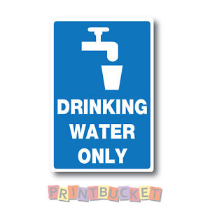 Non Potable Water sticker 150mm water and fade proof vinyl