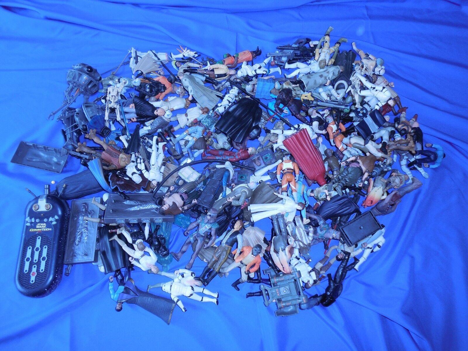 Lot de 125 HASBRO Star wars figurines boba fett Commtech Extended Universe