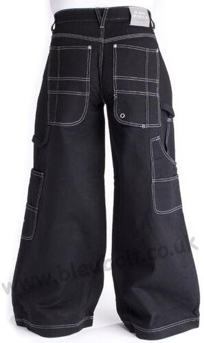 Bleubolt Goth Skater Jeans 34 pollici Orlo Big Size Super Baggy Loose Fit STILE 1500