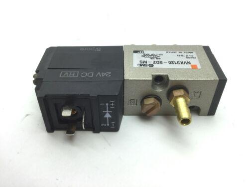 24VDC SMC NVK3120-5DZ-M5 Poppet Solenoid Valve 2-Position 5-Way Voltage