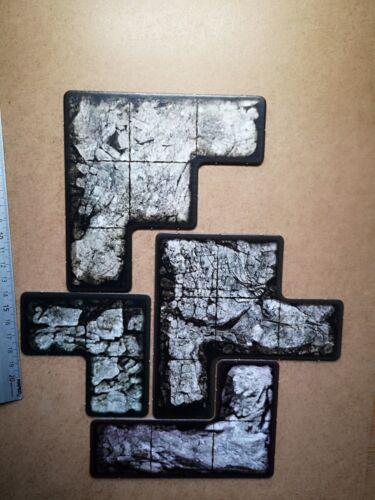 4 x PLATEAU TILES HATE BOARD GAME CMON  G132