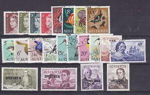 AD16-Australia-1966-Decimal-Specimens-Pack-1c-4-Values-to-50c