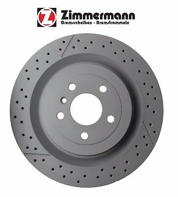For Mercedes W164 ML63 2012-2015 Rear Brake Disc Rotor Zimmermann Coat Z