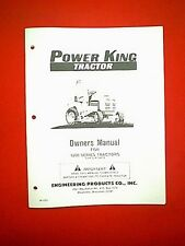 POWER KING TRACTOR MODEL 1200 SERIES FROM SERIAL # 59658 OWNER WITH PARTS MANUAL