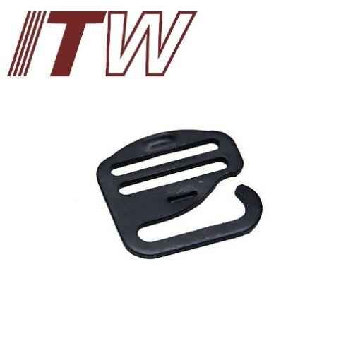 """ITW WATERBURY G HOOK FLAT 1/"""" CARBON STEEL TACTICAL WEBBING HOOK TAN or BLACK"""