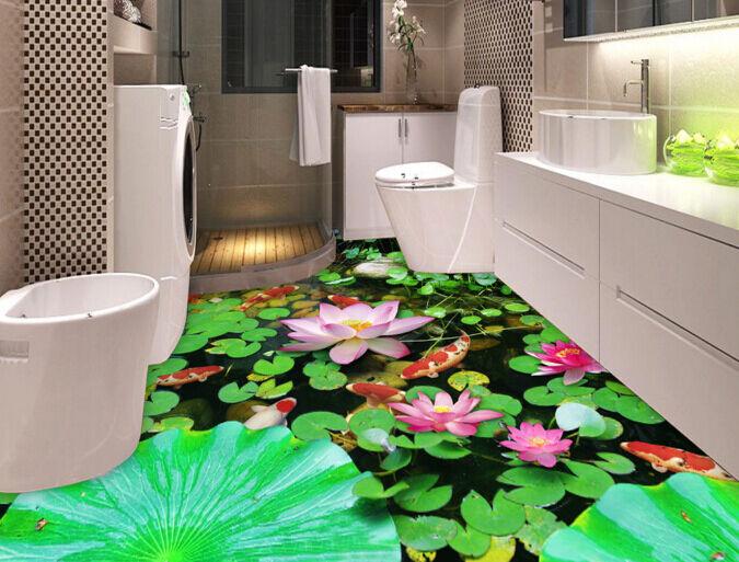 3D Lotus Pool 750 Fototapeten Wandbild Fototapete Tapete Familie DE Lemon