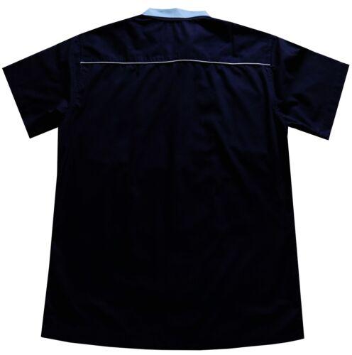 Mens Bowling Shirt Grey Red Blue Options Open Neck Ten Pin 50/'s Rockabilly Relco