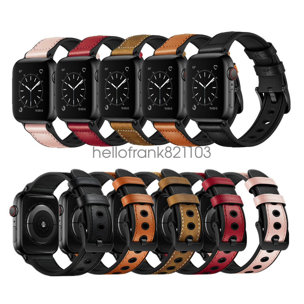 iwatch: per Cinturino Apple Watch Banda in Pelle e Silicone iWatch 42mm 44mm 38mm 40mm