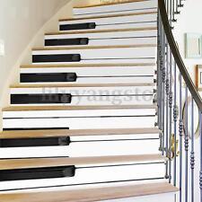 6Pcs 3D Piano Stair Risers Decoration Photo Mural Vinyl Decal Wallpaper Sticker