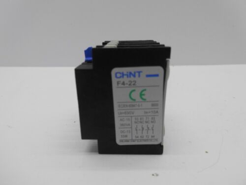 CHINT NC1 AUXILIARY CONTACTOR BLOCK NORMALLY OPEN NORMALLY CLOSED HEAD MOUNT
