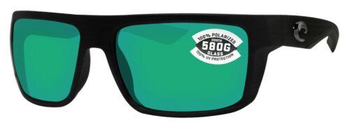 Costa Del Mar Motu Black Frame Green Mirror 580G Glass Polarized Lens