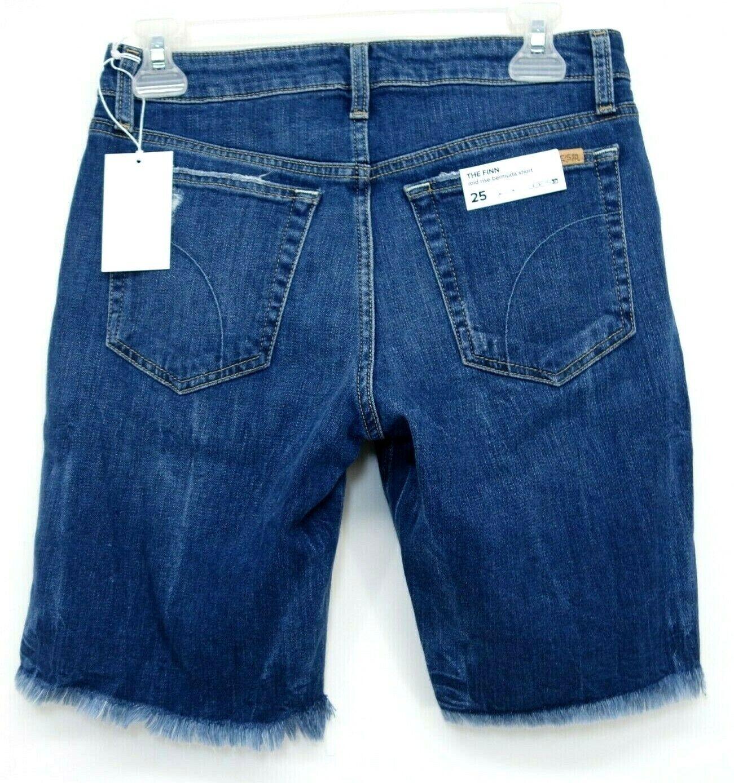 Neu Joes Jeans Damen Die Finn Bermuda Mid-Rise Raw Stretch Shorts Sz 63.5cm