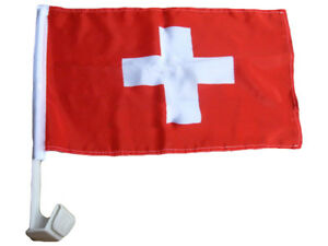 "(2 Pack) Switzerland Country Car Window Vehicle 12x18 12""x18"" Flag 692752781018"