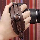 CIESTA DSLR SLR Camera Leather Hand Grip Strap (Dark Brown) w/ Dovetail Plate