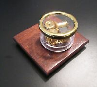 Chopin Nocturne Carousel Music Box - Mahogany -gold Disk On/off Classical Song