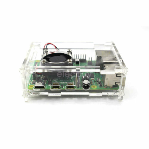 New Case Enclosure Box with Cooling Fan Heat Sink for Raspberry Pi 4 Model B