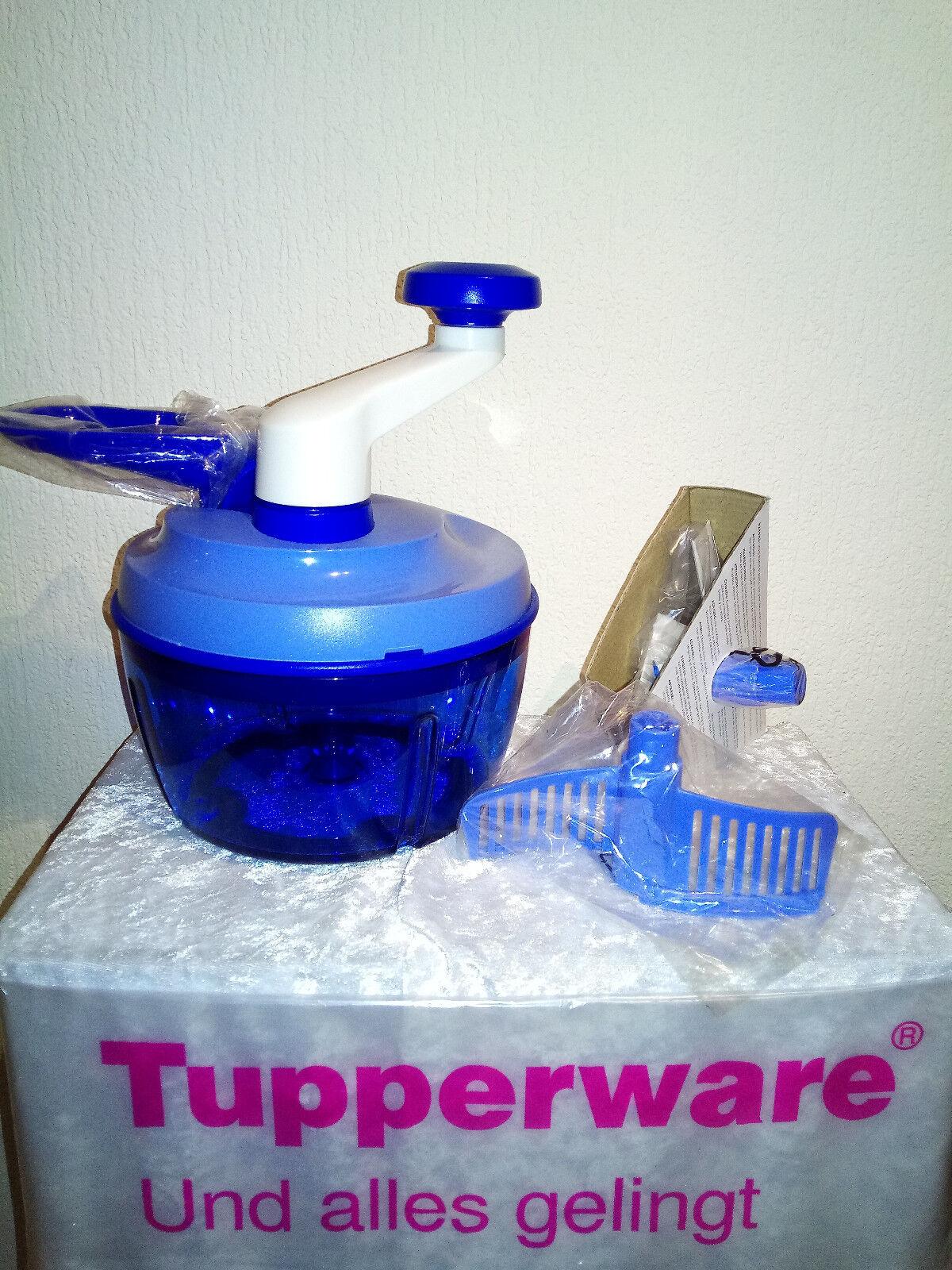 TUPPERWARE Quick Chef 2 Messer blau NEU OVP