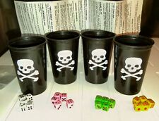 Mini Pirate's Dice Game Liar's Dice Set - 4 Cups, 20 Miniature 6mm Dice & Rules