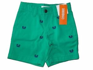 NWT Boy's Gymboree Tide Pool crab green adjustable shorts ~ 2 2T FREE SHIP!
