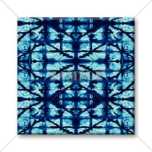 Ceramic Tile Blue Shibori Design Kitchen Tiles Backsplash Bathroom - Blue-ceramic-bathroom-tile