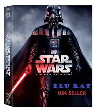 Star Wars: The Complete Saga (Blu-ray Disc, 9-Disc Set, Boxed Set) Blu Ray * NEW