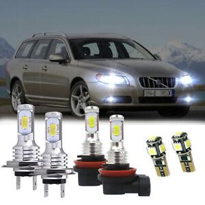 2 x H9 55w White Xenon Main Beam Bulbs To Fit Volvo V70 MK2