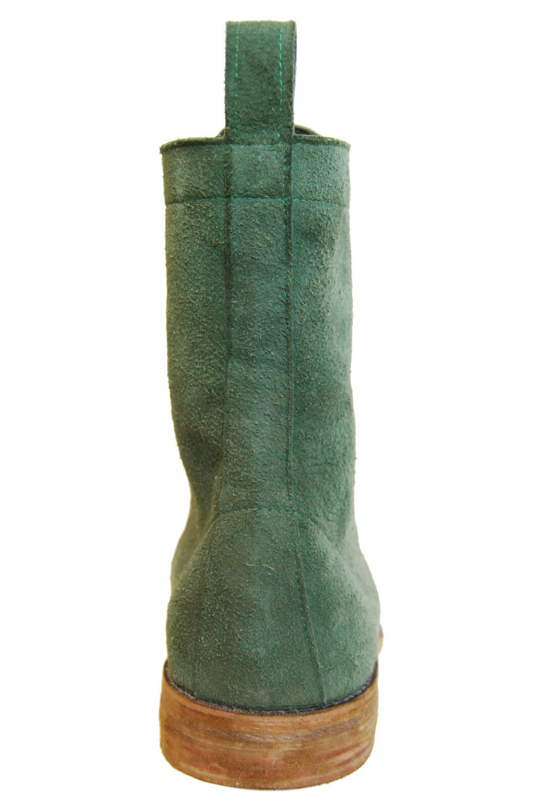 ANDRE No. 1 verde Suede Popeye stivali, US 9.5, EUR EUR EUR 43.5  NEW, Handmade in USA< 3b7976