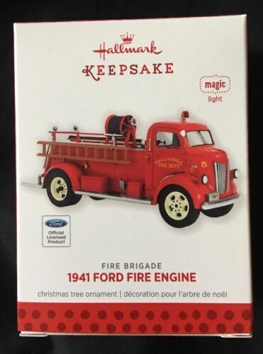 1941 Ford Fire Engine Fire Brigade #11 2013 Hallmark Ornament for sale  online | eBay