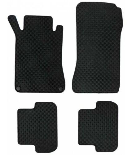 Für Peugeot 306 Cabrio ab 4.94 Gummi-Automatten Octagon schwarz Gummifussmatten