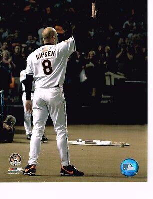 """Cal Ripken Jr. (Orioles)"""" 2131 Wave"""" unsigned color 8x10 photo"""