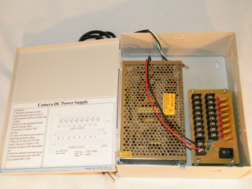 8 Channels 12V DC Regulated Distributed Power Supply