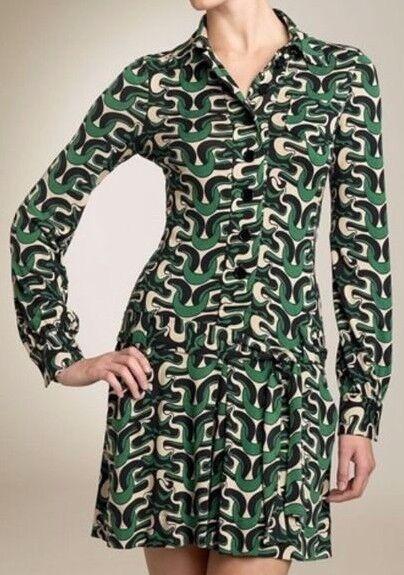 DVF Diane von Furstenberg 4 Sheena Retro Pop Art Print Silk Jersey Dress & Belt