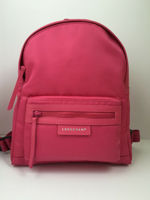 a84ca2a63e Longchamp Le Pliage Neo Small Backpack Nylon Pink for sale online | eBay