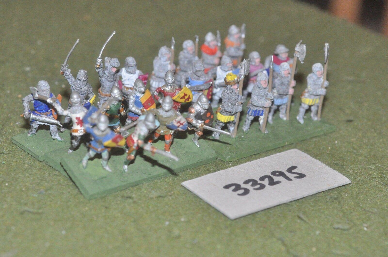 25mm inglés-desmonta una Caballeros Medievales 24 figuras-INF (33295)